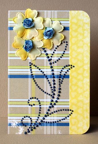 Yellow-flower-card